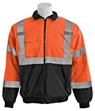 ERB 63953 W105 Aware Wear Class 3 Economy Bomber Jacket, Orange/Black, Medium