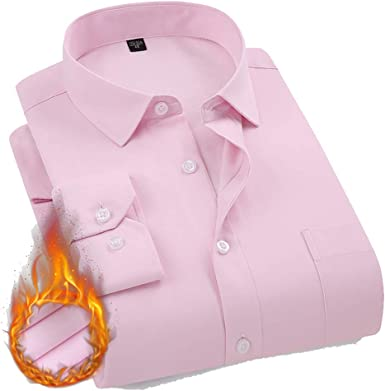 ENCOCO - Camisa de Manga Larga con Forro Polar y Botones para Hombre: Amazon.es: Ropa y accesorios