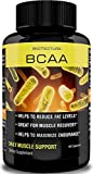 BCAA Capsules - Daily Muscle Support Formula. Amino Acids Help Reduce Fat Levels and Aid to Maximize Endurance. Best Dietary Supplement for Muscle Recovery! Money Back Guarantee!