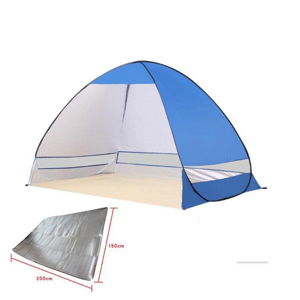 NINI Campingzelt Professional Beach, Park, Zelt Im Freien Zelt mit Feuchtigkeitsdichten Pad Multi-Farbe Optional,Navybule