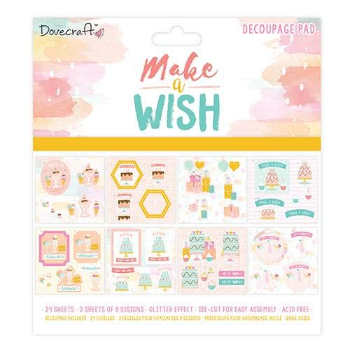 Pad Decoupage (Dovecraft Premium Make a Wish Christmas Craft Collection - 8x8 Decoupage Pad)