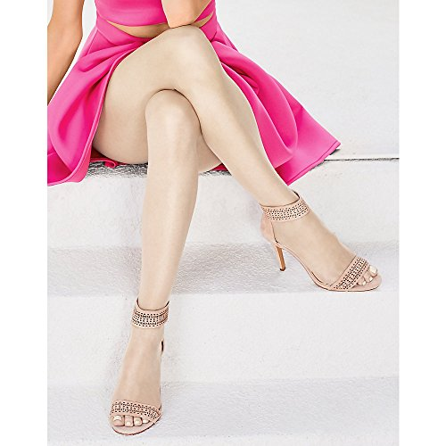 Hanes Women Set of 3 Silk Reflections Ultra Sheer Toeless Control Top Pantyhose AB, Natural
