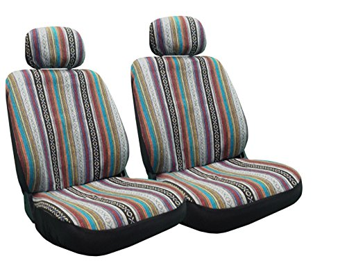 Unique Imports Baja Inca Seat Covers Pair Front Row Saddle Blanket for Toyota Corolla