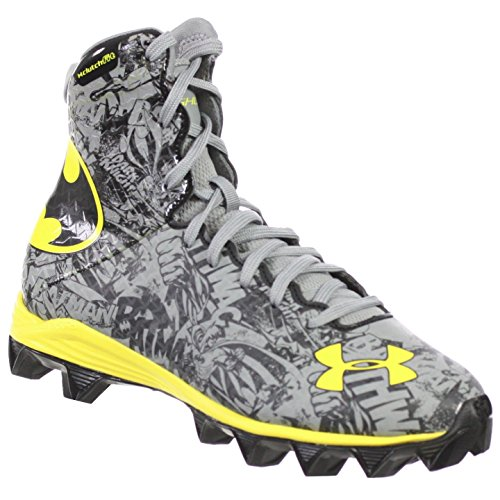 UNDER ARMOUR YOUTH FOOTBALL SHOES HIGHLIGHT RM ALTER EGO JR GREY BATMAN 4Y - Batman Under Armour Shoes