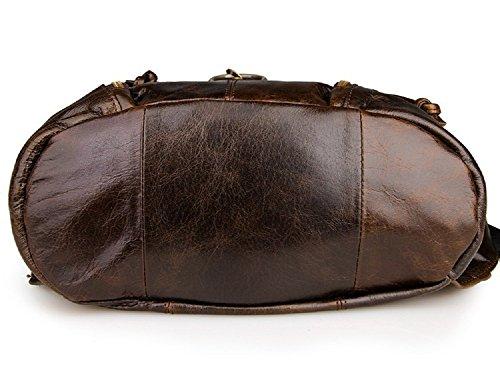 FRAZILL Damen und Mädchen Leder Rucksack Freizeit Taschen Schultertasche Hohe Qualität JM7306 (Kaffee) Kaffee spZUoXDerR