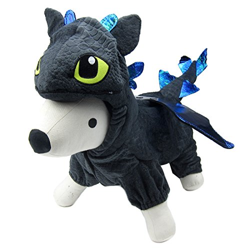 Alfie Pet by Petoga Couture - Night Fury Dragon Costume - Color: Black, Size: -