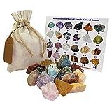 Mixed Rough Natural Stones Mix 1 Lb (.5 Kg) Bulk Reiki Chakra Healing Crystals Mineral Gemstone Specimens (Mixed)