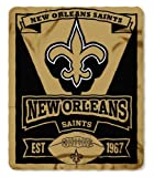 NFL New Orleans Saints Marque Printed Fleece Throw, 50-inch by 60-inch