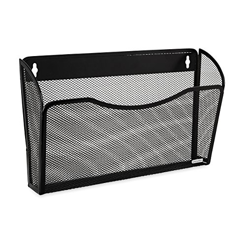 Rolodex Mesh Collection Single-Pocket Wall File, Black (21931) (Renewed) ()
