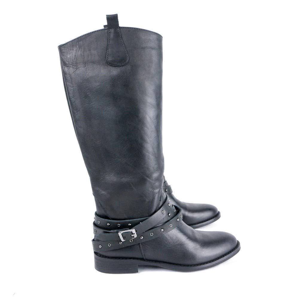 Latika Camperos Stiefel aus Leder mit abnehmbaren Riemen