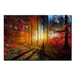 Mud Road in Pink Forest Bright Lines Wall Art Painting Pictures Print On Canvas Landscape The Picture for Home Modern…