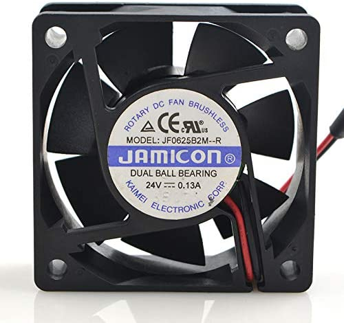 for Jamicon JF0625B2M-R 6025 6CM 24V 0.13A Drive Fan