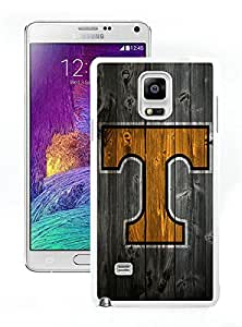 Southeastern Conference SEC Football Tennessee Volunteers 06 White Samsung Galaxy Note 4 Screen Cellphone Case Genuine and Fashion Design