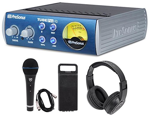 (Presonus TubePre V2 Vacuum Tube Preamp+DI Direct Box+Microphone + Speaker)
