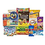 Care Package for College Students, Military, Valentines Day, Birthday, Office Snacks and Back to School with Chips, Cookies and Candy (15 Count) From SnackBOX