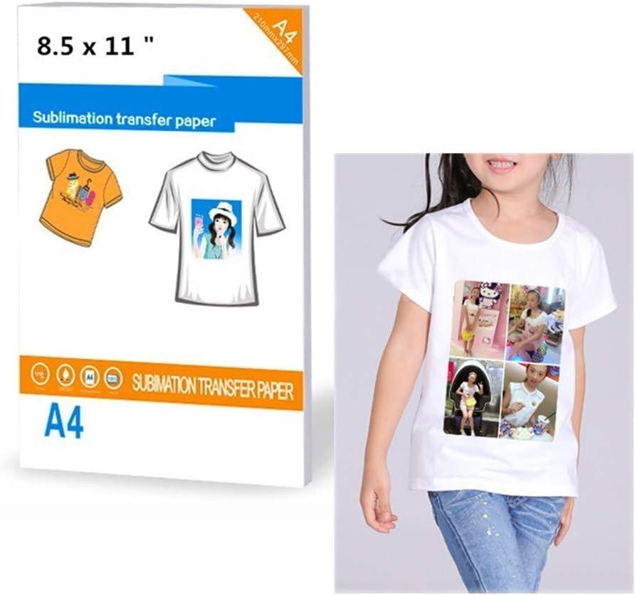 T Shirt transfer paper for light fabrics 5 A4 sheets