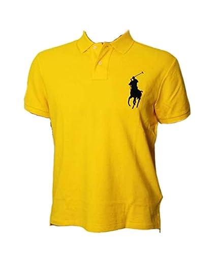 7c9f9cc9 Polo Ralph Lauren Mens Custom Fit Big Pony Mesh Polo Shirt