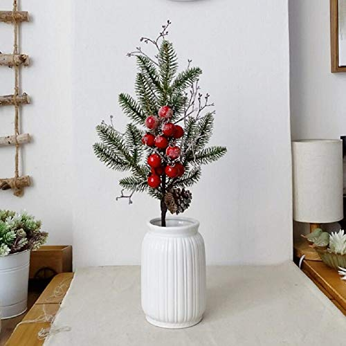 Maylife Artificial Frosted Berries with Pine Cone Christmas Red Fruit Picks Home Decor - Berry Frosted Pine