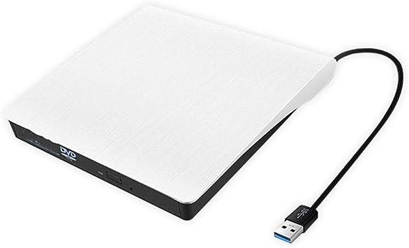 Color : White TRDyj External Optical Drive USB3.0DVD Burner Mobile Universal External Notebook Desktop USB Burner External Optical Drive