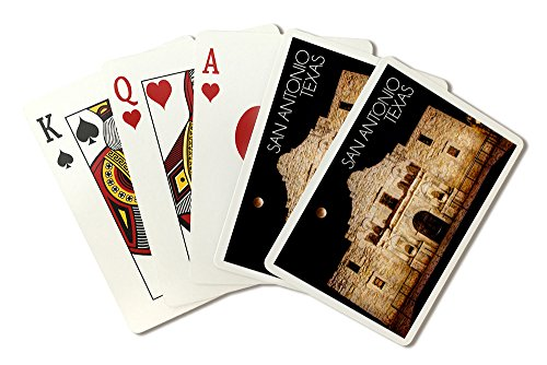 San Antonio, Texas - Lunar Eclipse Over The Alamo (Playing Card Deck - 52 Card Poker Size with Jokers)