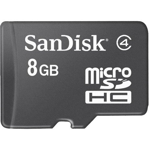 SanDisk 8GB MicroSD High Capacity (microSDHC) Card   (Class 4)   8 GB