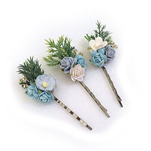 Price comparison product image 3 paper flower hair bobby pins, hair pin, flower hair clips, Hair Accessories,