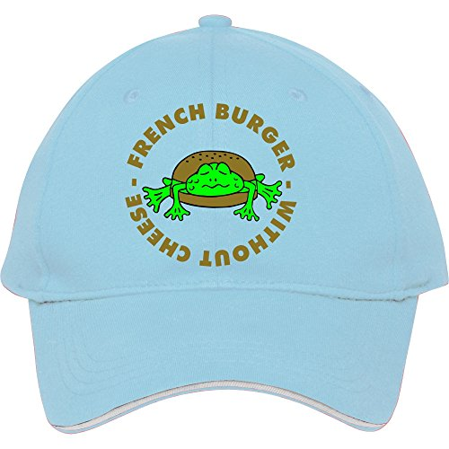 male-female-fashion-adjustable-light-blue-baseball-cap-snapback-hat-with-3-col-french-frogburger-wit