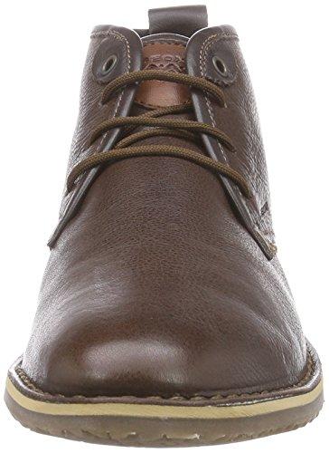 Geox U ZAL B - botas desert de cuero hombre Braun (C6006DK BROWN)