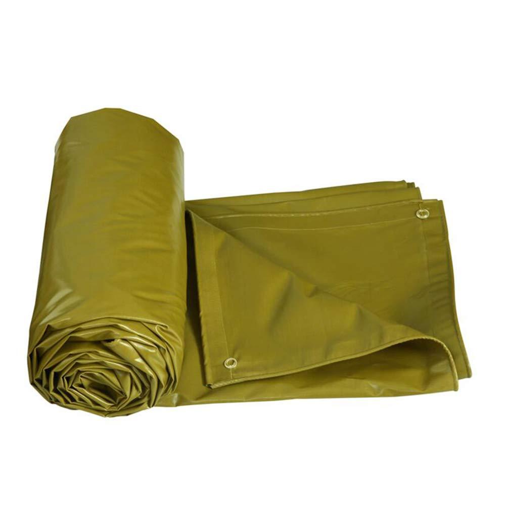 DALL ターポリン 耐寒性 タープ アウトドア 日焼け止め オーニング 倉庫 防水 日焼け止め (色 : 黄, サイズ さいず : 4×3m) 4×3m 黄 B07KVSXSSH
