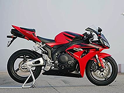 Amazon.com: Black Red Fairing Bodywork Injection for 2006-2007 Honda ...