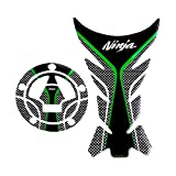 Sticker Decal Gas Fuel Tank Protector Pad + Fuel Gas Tank Cap Protector Pad For Kawasaki Ninja 650 ZX636 ZX600 ZX-10R ZX14 ZX1400 ZX14R ABS 1000 ZX1000