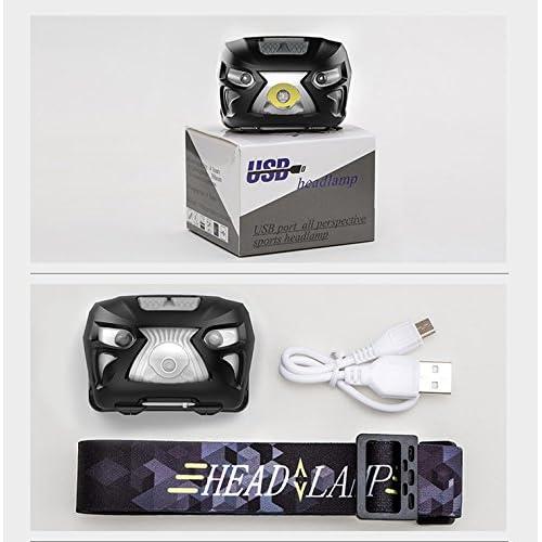 AIVIDA Lampe Frontale Super Brillant Rechargeable USB Résistante à L'eau pour Rxtérieur