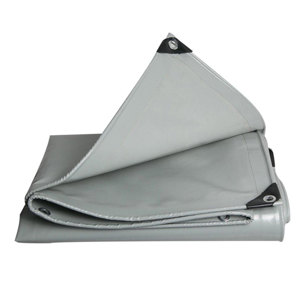 灰色のPVCナイフ布/雨布/サンタプロウリン/0.48ミリメートル防水パッテッドターポリン/トラックカバーキャノピー、600g/平方メートル (色 : グレー, サイズ さいず : 3*4m) B07DGR1MGV 3*4m|グレー グレー 3*4m