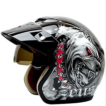 Retro motocicleta scooter Driving Protector Half Casco para Zeus 381 C