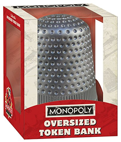 USAopoly Monopoly: Oversized Thimble Token Bank