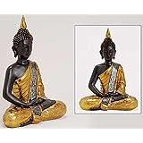 Deko Thailand goldener 30CM BUDDHA Figur Statue Skulptur FENG SHUI NEU