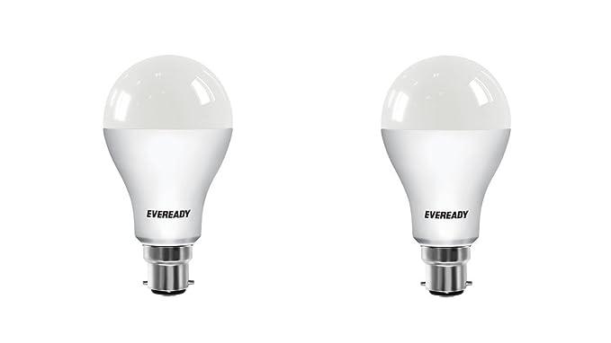 Eveready Base B22D 14-Watt LED Bulb (Cool Day Light, Pack of 2) LED Bulbs at amazon