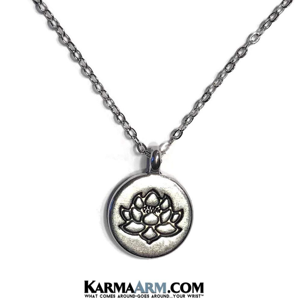 Meditation Jewelry Buddhist Gifts KarmaArm Necklaces Rebirth: Lotus Flower