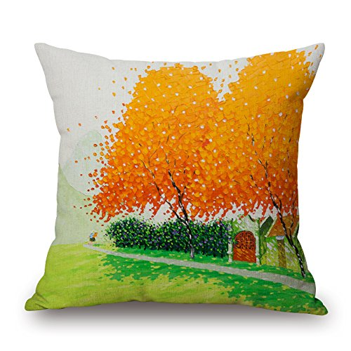 Price comparison product image Uloveme Plant Pillow Covers , best For Dining Room, birthday, festival, office, chair, bf 18 X 18 Inches / 45 By 45 Cm(two Sides)