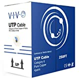 250 feet cat 6 cable - VIVO Blue 250ft Bulk Cat6 Full Copper Indoor LAN Ethernet Cable Wire | UTP Pull Box 250 ft Cat-6 Copper (CABLE-V016)