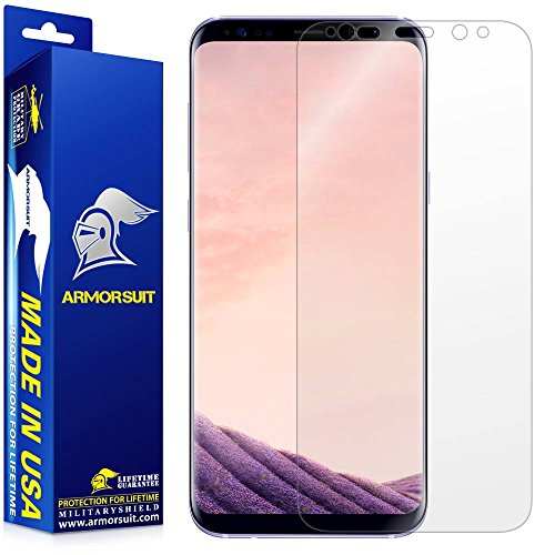 ArmorSuit – Galaxy S8 Plus Screen Protector [Not Case Friendly] MilitaryShield For Samsung Galaxy S8 Plus Anti-Bubble Lifetime Replacement HD Clear