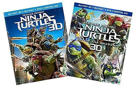 Amazon.com: TMNT 2-Pack Blu-ray 3D Collection: Teenage ...