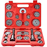 DASBET 22pcs Universal Disc Brake Caliper Piston Compressor Wind Back Repair Tool Kit for Cars