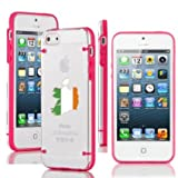 Apple iPhone 6 6s Thin Hybrid Transparent Clear Hard TPU Bumper Case Cover Ireland Irish Flag (Hot Pink)