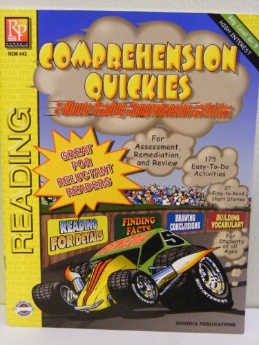Comprehension Quickies (3-Minute Reading Comprehension Activities, Reading Level 5, Interest Level 4-12)