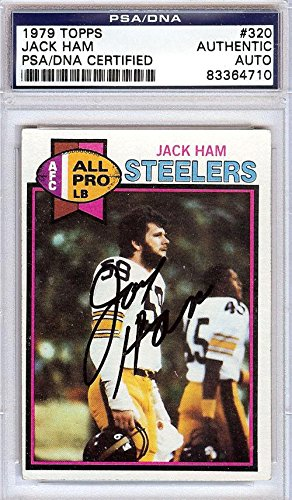Jack Ham Autographed Signed 1979 Topps Card #320 Steelers #83364710 - PSA/DNA Certified - NFL Autographed Football Cards