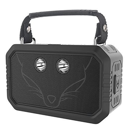 DOSS Bluetooth Speaker,Wireless Portable IPX6 Waterproof Indoor Outdoor Speakers with 20W Stereo Sound,Booming Bass,3W Flashlight,12Hours playtime,Rugged for Party,Beach,Camping,Hiking