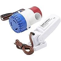 Fesjoy 12V 1100GPH Bomba de achique automática para barcos Interruptor de flotador Interruptores de sentina Sensor de…