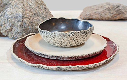 Wedding Dinnerware Registry, Handmade organic dinnerware setting, Large ceramic dinner set ,Stoneware dinner setting, Wedding Birthday gift
