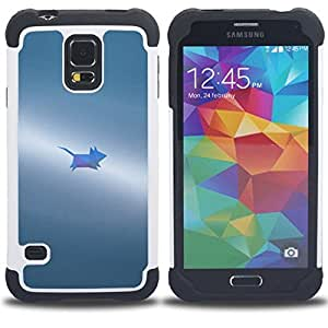 - grey small painted cute/ H??brido 3in1 Deluxe Impreso duro Soft Alto Impacto caja de la armadura Defender - SHIMIN CAO - For Samsung Galaxy S5 I9600 G9009 G9008V